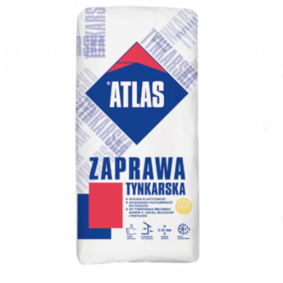 Traditional Sand And Cement Packed Render Atlas - Render Coat 6mm to 30mm - 25kg - Pallet of 48