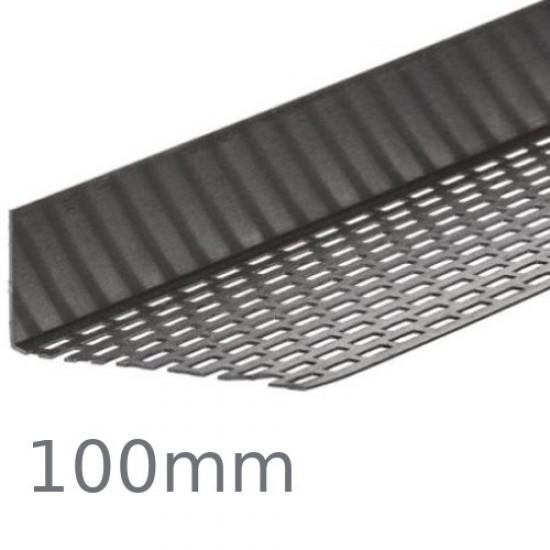100mm Cedral Aluminium Perforated Closure Profile - 2.5m length