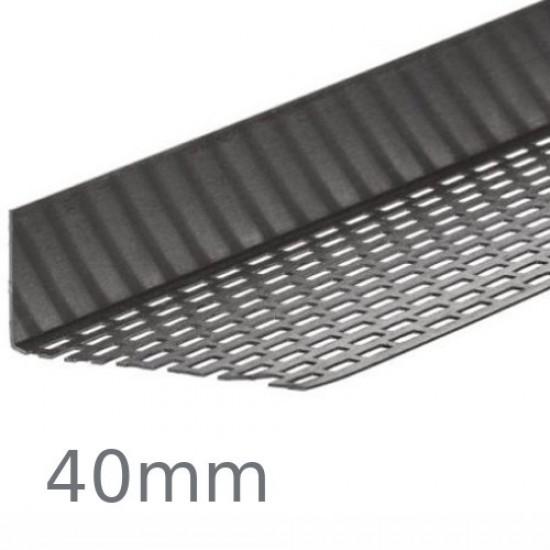 40mm Cedral Aluminium Perforated Closure Profile - 2.5m length