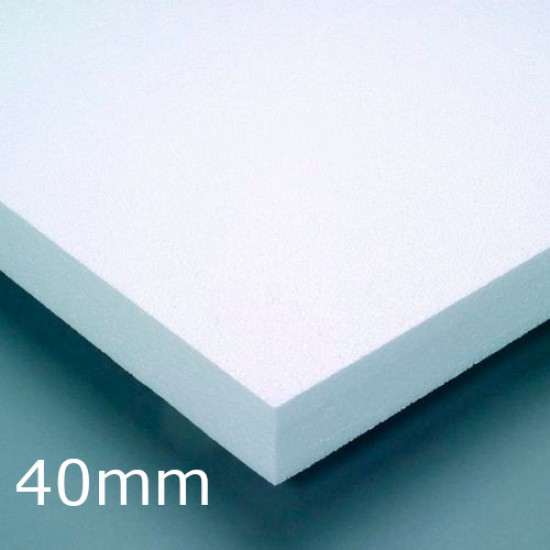 40mm White Expanded Polystyrene (EPS) for Insulated Render Systems - Ceresit CT305 (pack of 15)