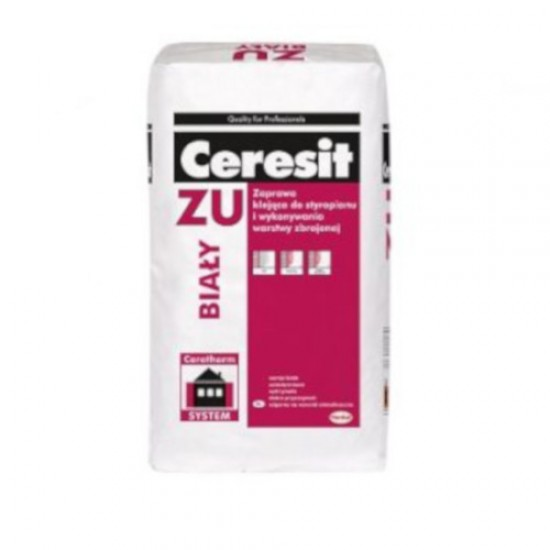 Ceresit ZU White Polystyrene and Reinforced Mesh Adhesive - Base Coat Render - 25kg