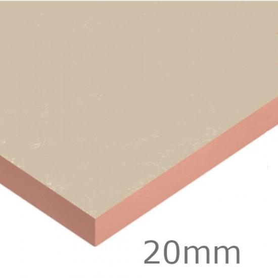 Single Board 20mm Kingspan Kooltherm K5 External Wall Board - 1200mm x 600mm