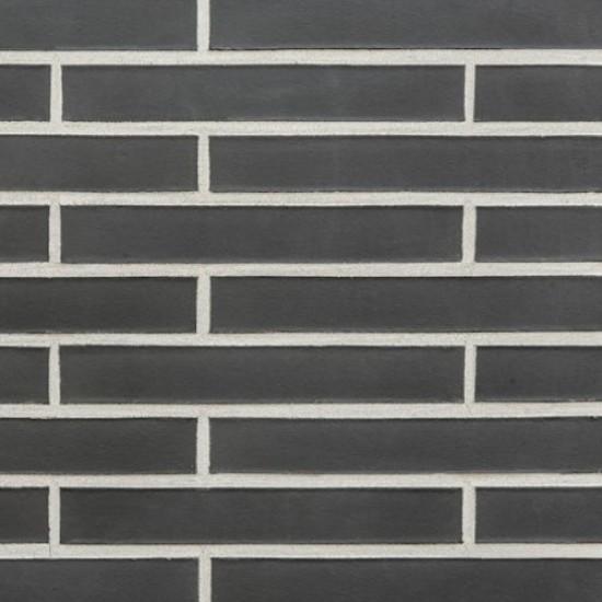 Portland PEXLDF Anthracite Smooth Facade Brick Slip - 365mm x 14mm x 52mm