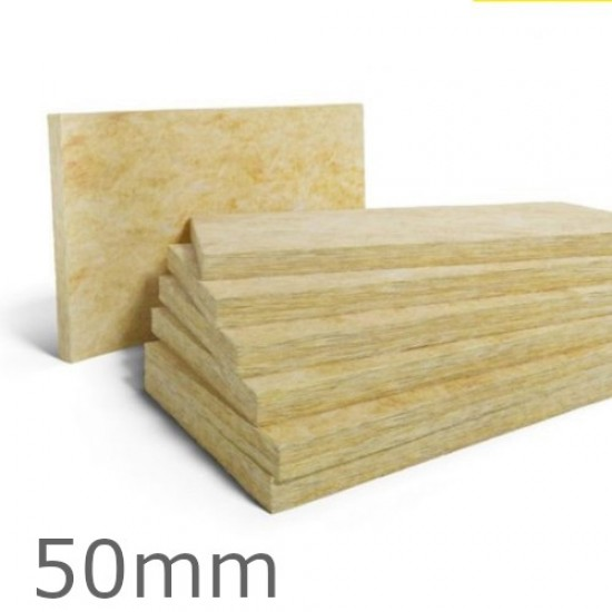 50mm Rockwool Dual Density Slab for Insulated Renders - 1200mm x 600mm (pack of 4)