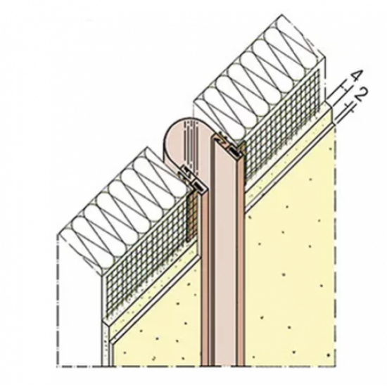 6mm Expansion Joint Profile PVC - length 2.5m (pack of 3).