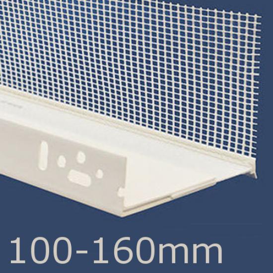 100 -160mm Adjustable PVC Base Profile - 2m length (pack of 10)