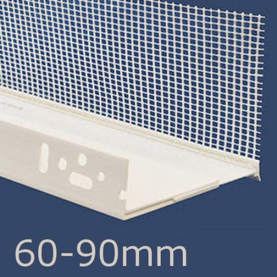 60-90mm Adjustable PVC Base Profile - 2m length (pack of 10)