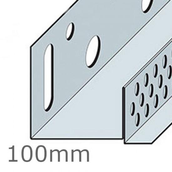 100mm Aluminium Brick Slip Base Profile - 2.5m length