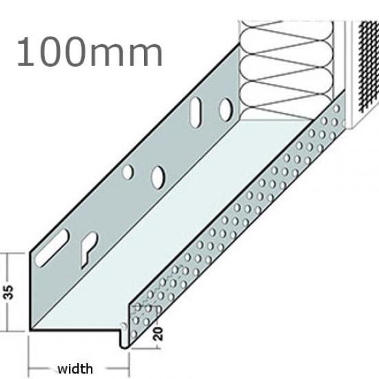 100mm Aluminium Base Track Length 2.5m (pack of 10).