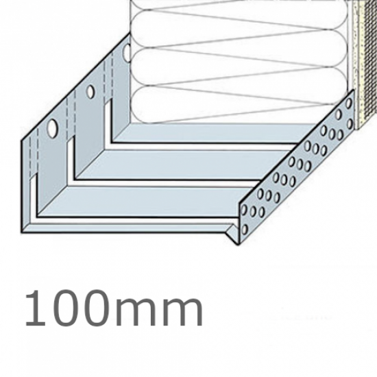 100mm Aluminium Flexible System Starter Track Profile - 2.5m length (pack of 5)