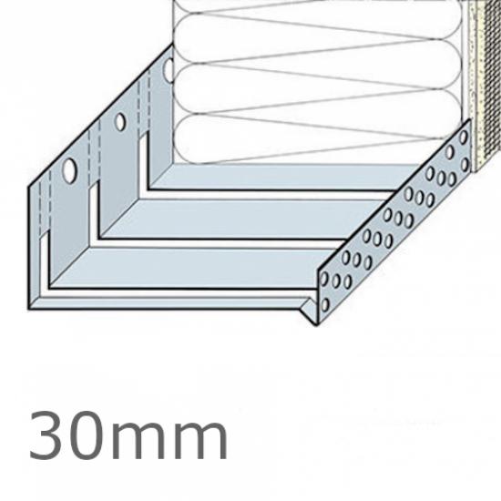 30mm Aluminium Flexible System Starter Track Profile - 2.5m length (pack of 5)