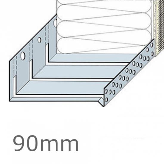 90mm Aluminium Flexible System Starter Track Profile - 2.5m length (pack of 5)