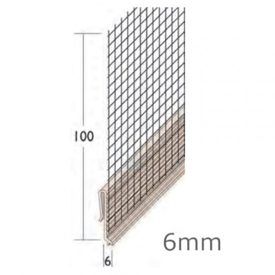 6mm PVC System Base Track Clip - Drip with Mesh - Length 2.5m (pack of 15).