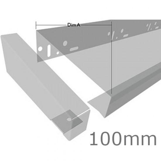 100mm Aluminium End Cap for Verge Trim Profiles