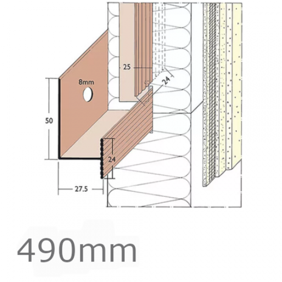 PVC Rail System Connector (pack of 50) - 490mm length.