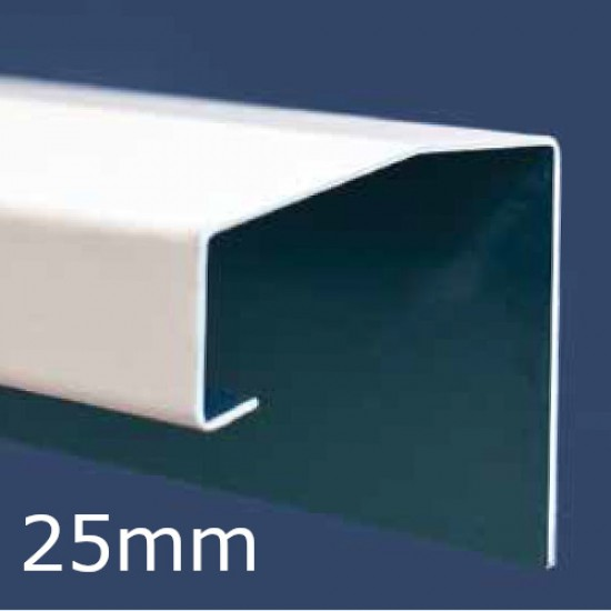 25mm Aluminium Undersill Flashing and Window Sill Extension (with Full End Caps - pair) - 2.5m Length.