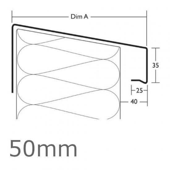 50mm Aluminium Verge Trim Profile WEC 771 - 2.5m length