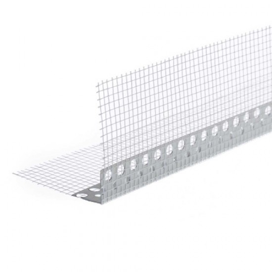 PVC Corner Bead With Mesh - 2.5m length
